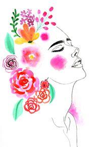 quadro-cabelo-florido