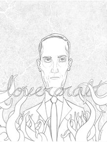 quadro-lovercraft-pontilhismo