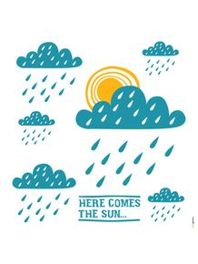 quadro-xilogravura-here-comes-the-sun