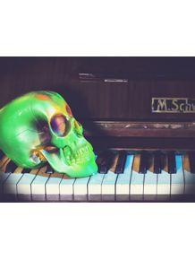 quadro-green-skull-2