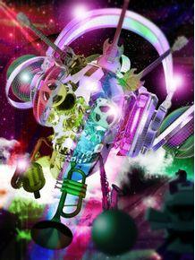 quadro-skull-music-lover--2