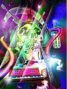 quadro-skull-music-lover--3