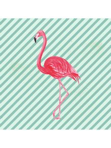 quadro-flamingo-stripes