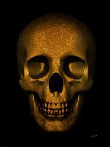 quadro-skull-gold