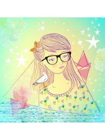 quadro-menina-mar-turquesa