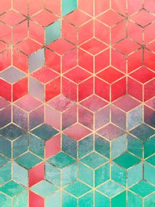 quadro-rose-and-turquoise-cubes