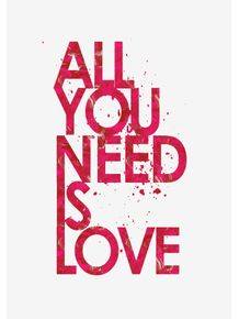 quadro-all-you-need-is-love--pink
