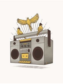 quadro-three-little-birds-boombox