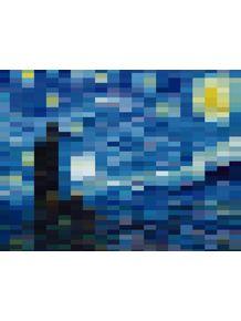 quadro-noite-estrelada-mosaico