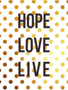 quadro-hope-love-live