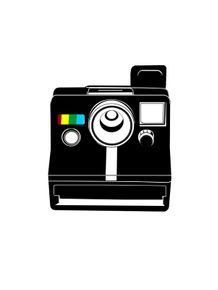 quadro-retro-camera-black