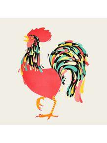 quadro-galo-colorido
