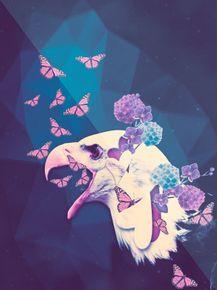 quadro-aguia-floral-ts