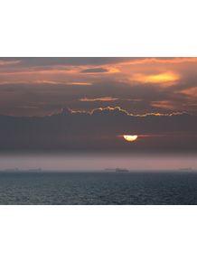 quadro-navios-ao-por-do-sol