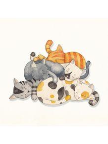 quadro-cat-nap-siesta-time