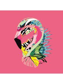 quadro-tropical-flamingo