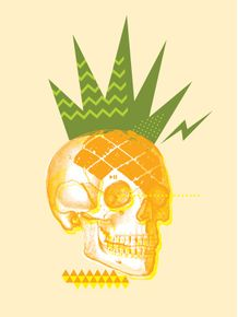 quadro-pineapple-rock-skull