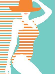 quadro-mulher-listrada