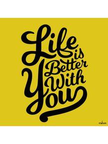 quadro-life-with-you-yellow-ii
