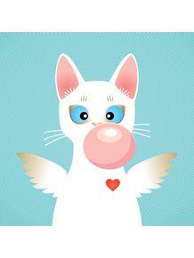 quadro-bubble-gum-cat