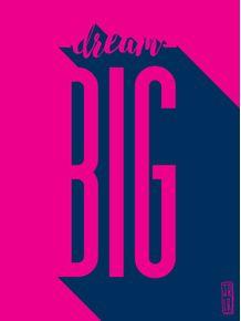 quadro-dream-big--tipografia
