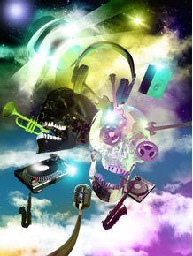 quadro-skull--music-lover-6