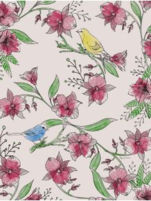 quadro-natureza-flores-e-passaros
