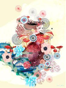 quadro-watercolor-girly