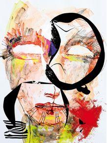 quadro-rosto-abstrato
