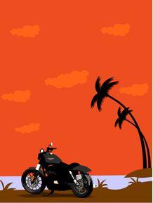 quadro-paisagem-e-motocicleta