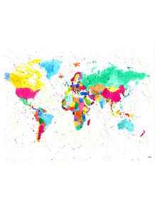 quadro-mapa-cor-mundi