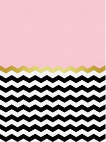 quadro-chevron-dourado-e-rosa