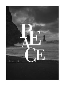 quadro-paisagens-e-palavras-peace--preto-e-branco