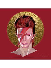 quadro-saint-bowie--red-polygon