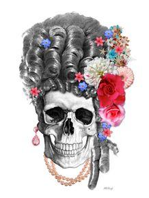 quadro-marie-antoinette-skull