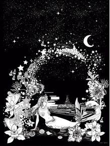 quadro-sereia-da-noite