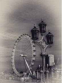 quadro-london-eye-bw