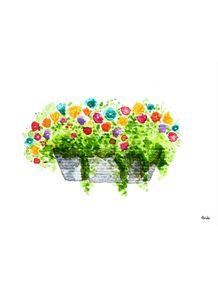 quadro-flores-na-parede