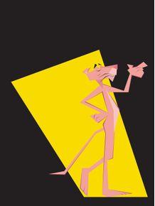 quadro-pantera-cor-de-rosa-cm