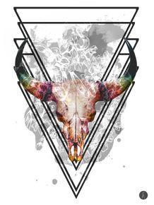 quadro-bull-skull