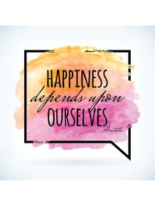 quadro-happiness-depends-upon-ourselves--pinkorange