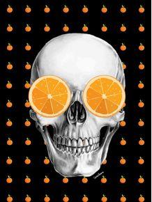 quadro-skull-laranja-mecanica