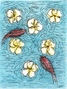 quadro-flores-na-agua