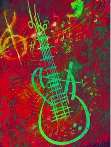 quadro-guitar-red-sound