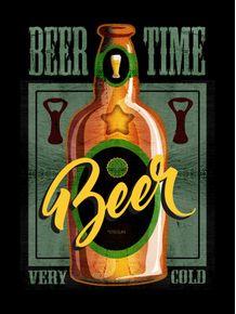 quadro-cerveja--beer-time-verde