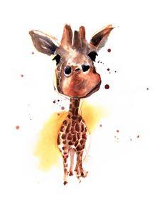 quadro-girafo-aquarelado