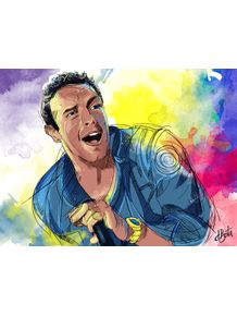 quadro-coldplay--chris-martin