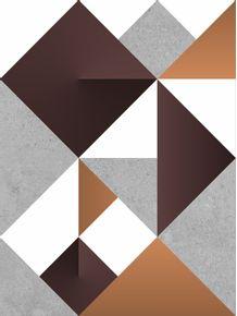 quadro-modular-origami-ocher