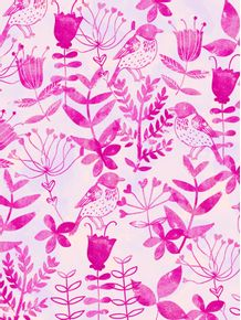 quadro-pink-floral-and-bird