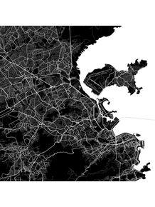 quadro-rio-de-janiero-traffic-map-black